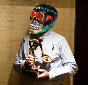 Skull sculpture by Patricia Shorty Gonzalez Silva