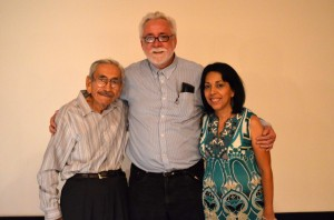 Daniel Buckley (center) with Associate Producers Ralph Gonzalez and Julie Gallego