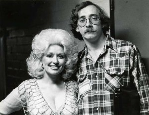 Buckley w. Dolly Parton around 1981 / photo by Bruce Schockett