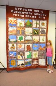 Arizona Quilt Centennial Project, Stetson Hills Elementary School Third Grade 2011, Kaya Mikulak