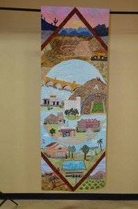 "Quilt by Evelyn Link for ""100 Arizona Quilters"" state centennial exhibition"