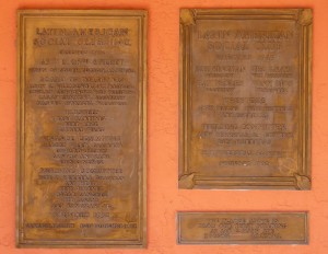 Latin American Social Club plaques on front of El Casino Ballroom