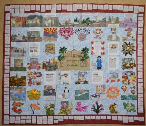 Glendale quilter Diane McElmury celebrates the women of Arizona in her contribution to the centennial quilt exhibit.