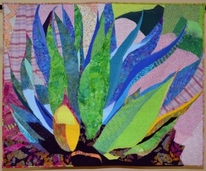 "Genevieve Guadalupe's ""Agave Azul"" - one of many extraordinary creations for the ""100 Years, 100 Quilts"" Arizona Historical Society state centennial exhibit."
