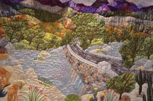 "Detail of Sandy Lambert's ""Abundance - Sabino Canyon """