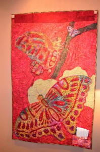 Quilt by Alicia Sterna: Butterfly, reverse side