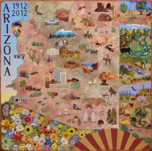 The Arizona Centennial Commemorative Quilt
