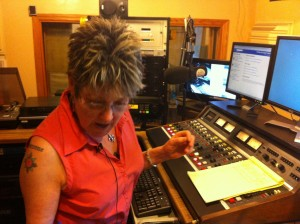 Carol Anderson tracking her Ruby's Roadhouse El Casino Ballroom tribute show at KXCI.