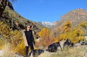 Tucson quilter Sandy Lambert in Sabino Canyon