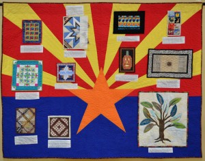 "Amanda Jeffrey's centennial exhibit submission, ""Arizona's Quilting Heritage."""