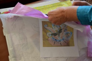 Turning drawings into quilts