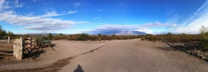 A pan created using Pano for iPhone at Wild Horse ranch. Notice the doubling in the mountains.