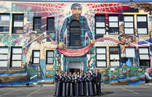 Mariachi Aztlan of Tucson, Arizona at Cesar Chavez Elementary, San Francisco.