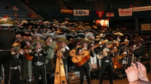 555 players break the Guiness World Book record for the largest mariachi ensemble performance at the 2010 Tucson International Mariachi Conference.