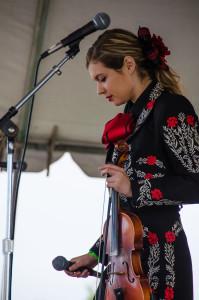 Maya Arce performs with Tucson High's Mariachi Rayos Del Sol.