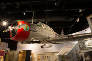 Reconstructed AT-6 aircraft from the Arizona Historical Society collection.