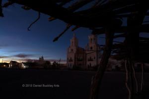 Mission San Xavier Del Bac, dusk