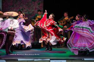 Members of Tucson's Ballet Folklorico Tapatio perform with Mariachi Sonido de Mexico.