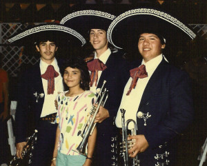 Dr, Jeff Nevin (second from right) as he looked when he was a member of Tucson's Los Changuitos Feos.