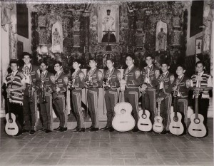 An early version of Mariachi Los Changuitos Feos – Tucson and America's first youth mariachi.