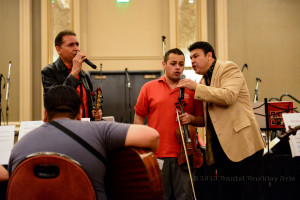 Jose Hernandez and members of Sol de Mexico working with masters students.