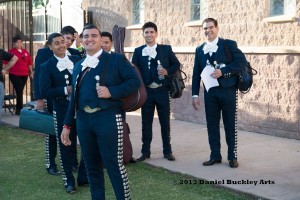 Las Vegas' Mariachi Mexico Antiguo gathers to perform.