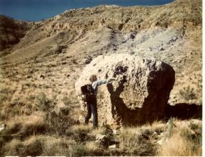Buckley in Meteor Crater, Arizona, 1972