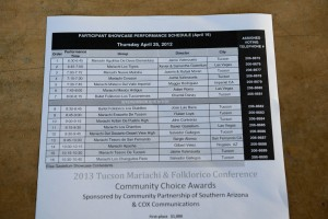 Participant showcase schedule
