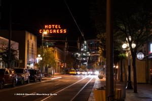 Congress Street at night