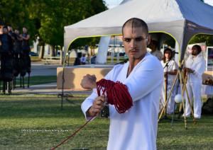 Poet/performance artist/dj Logan Dirtverbs Phillips in Dios de la Adrenalina.