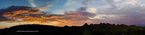 Valencia and Mission area, Tucson, Arizona, at sunset.