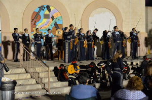 Young mariachi students sit on the steps to get a closer view of Mariachi Aztlan de Pueblo High School