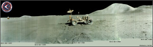 Apollo 15 rover and hills