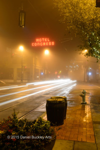 Hotel Congress in fog