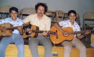 Richard and Reuben Carranza with Dr. V in the 1980s.