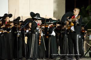 Jaime Valenzuela leads Mariachi Las Aguilitas de Davis Bilingual Elementary in concert.