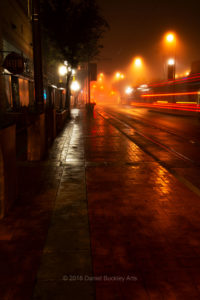Downtown Tucson in fog